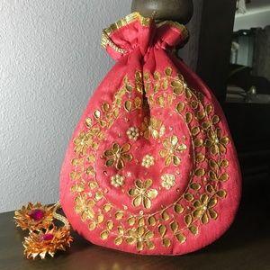 Handbags - RAW SILK POTLI